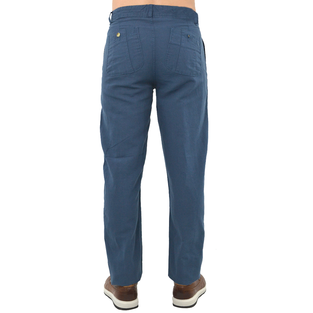 Mens Margaritaville Lorelei Solid Pant in Fathom Blue - Brother's on the Boulevard