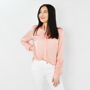 Womens Fifteen Twenty Frayed Collar Blouse in Rose - Brother's on the Boulevard