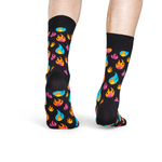 Happy Socks Flame Print in Black Combo