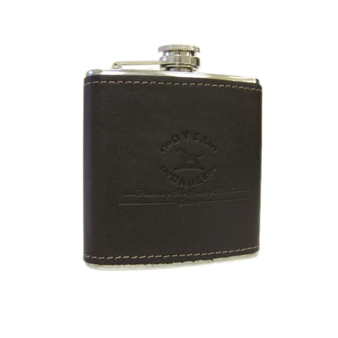Mens Over Under Original Logo Leather Flask - Brother's on the Boulevard