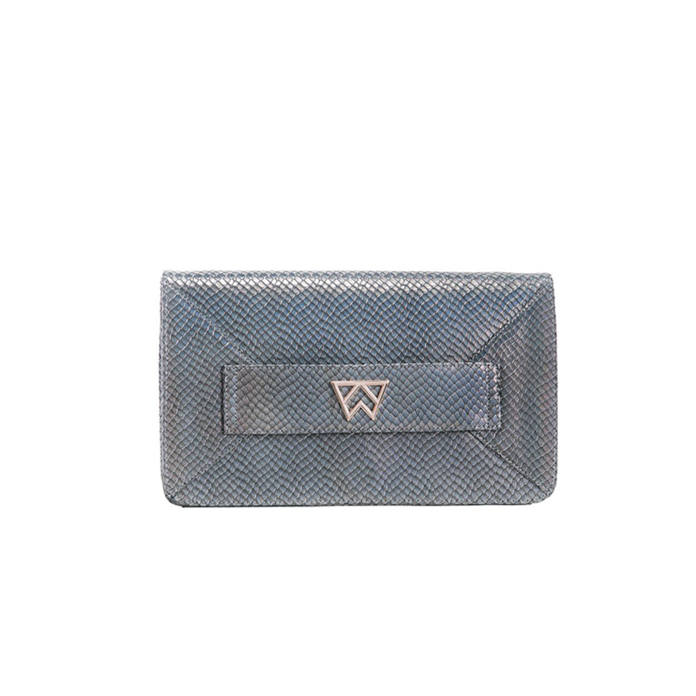 Womens Kelly Wynne Forever Classy Clutch in Iridescent Slate - Brother's on the Boulevard