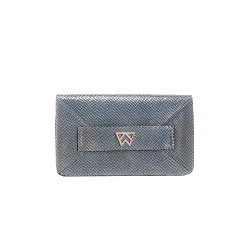 Kelly Wynne Forever Classy Clutch in Iridescent Slate