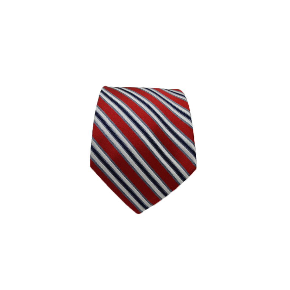 Mens Giannini Silk Neck Tie in Red and White - Brother's on the Boulevard