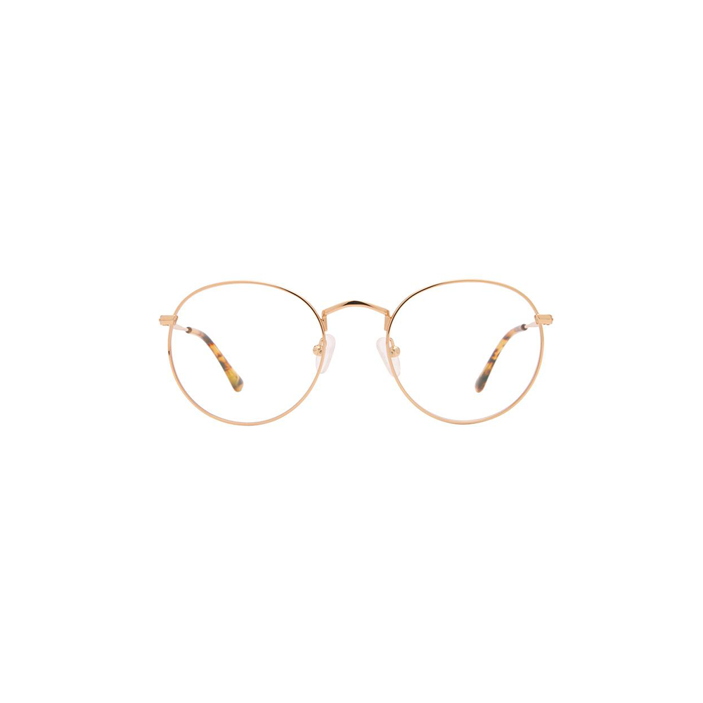 Womens DIFF Eyewear Gordan Blue Light Clear Glasses In Gold/Blue Light - Brother's on the Boulevard