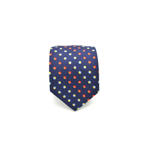 Mens Giannini Punctuated Necktie in Blue - Brother's on the Boulevard