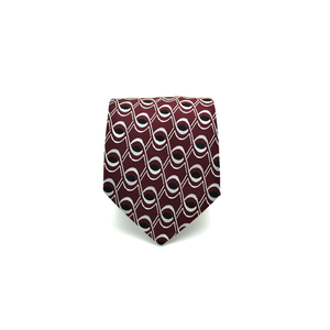 Mens Giannini Woven Necktie in Burgundy - Brother's on the Boulevard