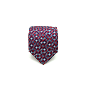 Mens Giannini Woven Circle Necktie in Red and Blue - Brother's on the Boulevard