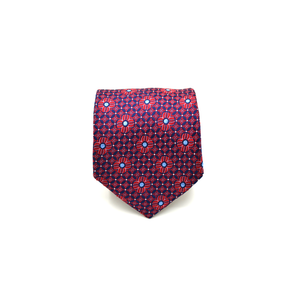 Mens Giannini Woven Flower Necktie in Red - Brother's on the Boulevard