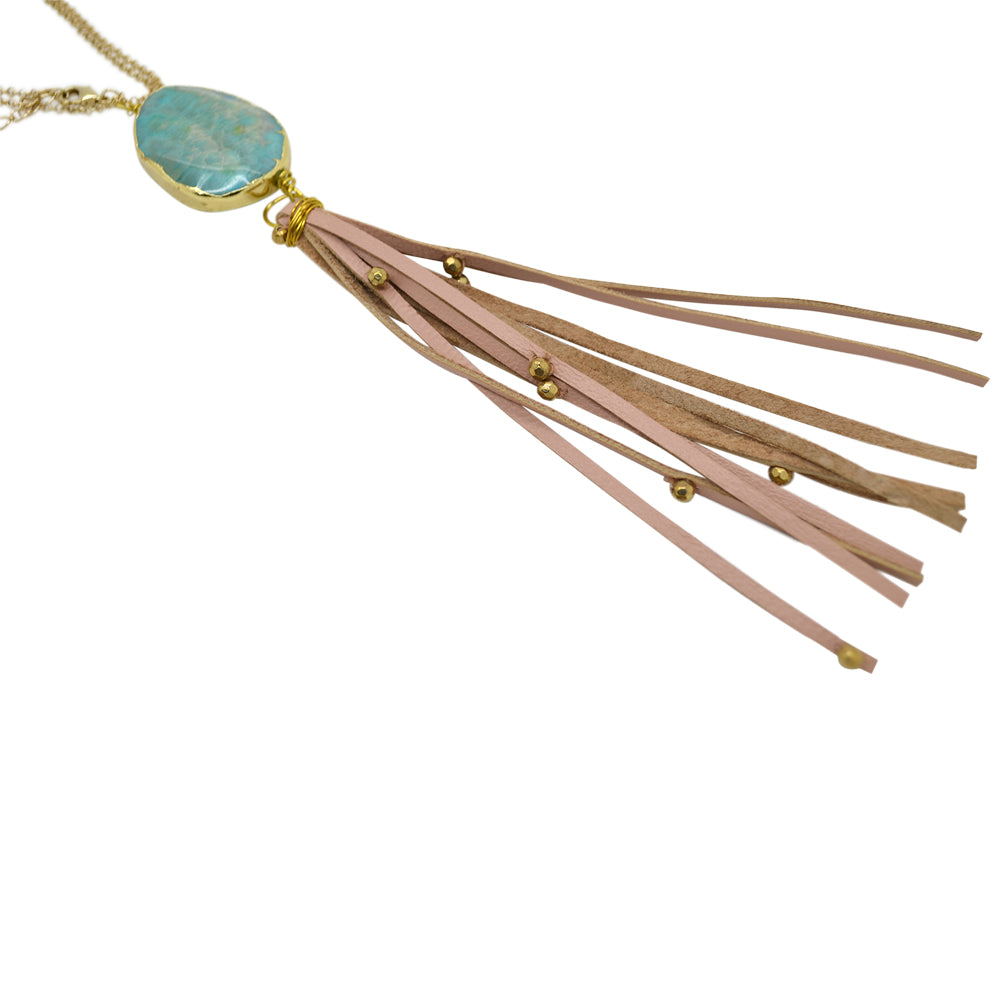 Womens Shira Melody Grayson Stone Necklace in Turquoise - Brother's on the Boulevard
