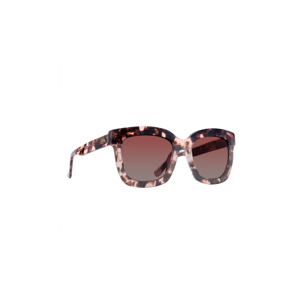 Womens DIFF Eyewear Carson Square Sunglasses Himalayan Tortoise/Rose Gradient - Brother's on the Boulevard