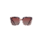 DIFF Eyewear Carson Square Sunglasses Himalayan Tortoise/Rose Gradient