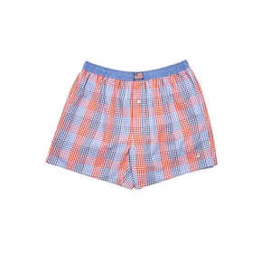 Mens Southern Marsh Hanover Gingham Boxer Shorts in Navy and Red - Brother's on the Boulevard