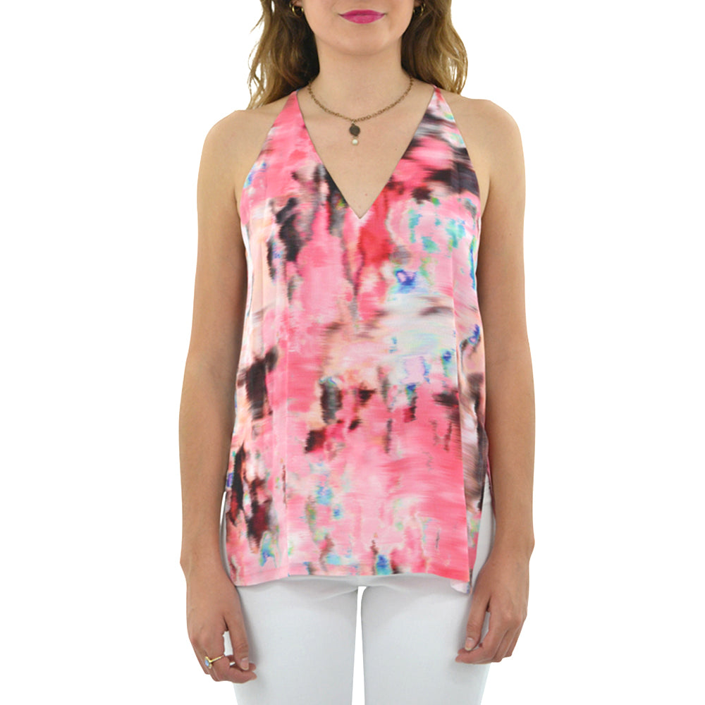 Womens Fifteen Twenty High Slit Cami in Print - Brother's on the Boulevard