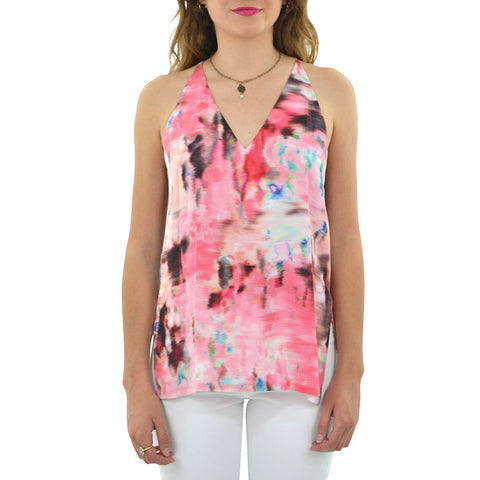 Fifteen Twenty High Slit Cami in Print