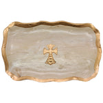 Claremont Clays Large Fancy Rectangle Tray in Hazelnut