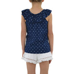 Tween Girls Splendid Girls Star Peasant Top in Indigo - Brother's on the Boulevard