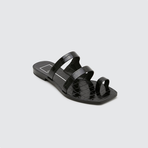 Womens Dolce Vita Isala Flat Sandal in Black - Brother's on the Boulevard