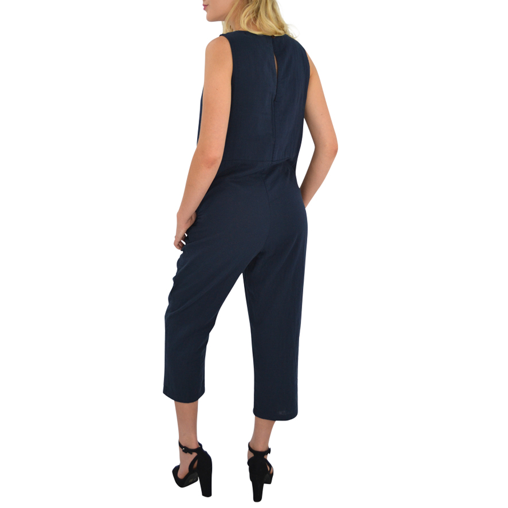 Womens Poche 1913 Jumpsuit in Navy - Brother's on the Boulevard
