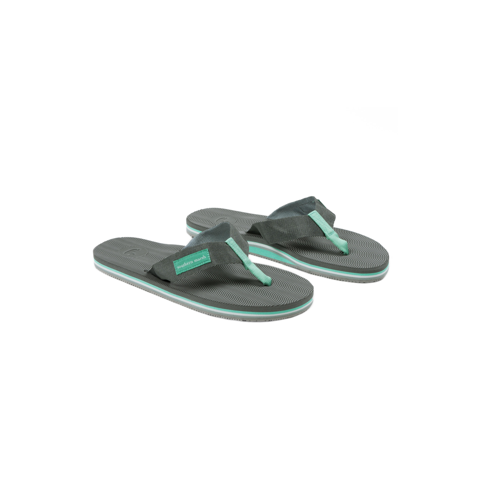 Mens Southern Marsh Webbing Bahama Sandal in Midnight Grey and Mint - Brother's on the Boulevard