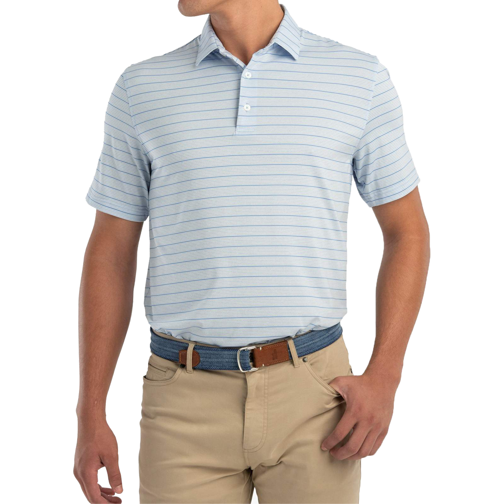 Johnnie-O Prep-formance Kiawah Polo in Gulf Blue
