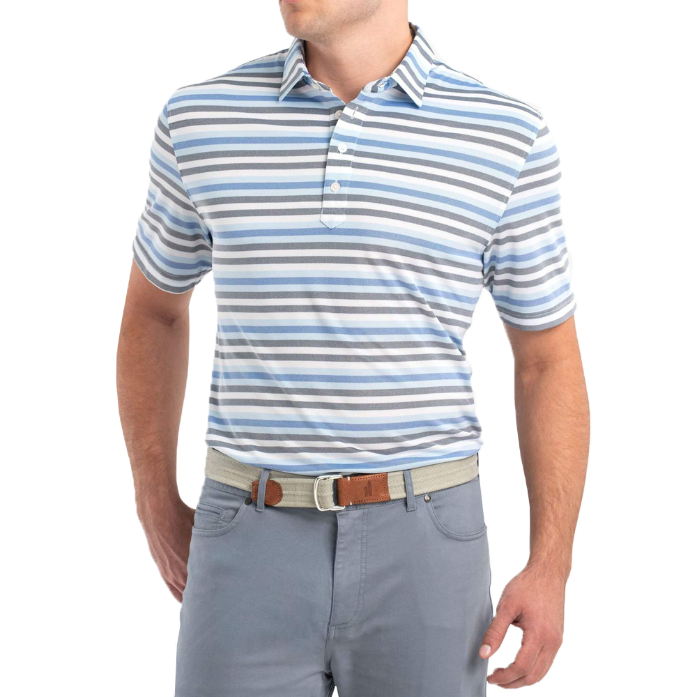 Johnnie-O Prep-formance Levi Polo in Gulf Blue