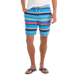 Johnnie-O Edisto Half Elastic Surf Shorts in Breaker