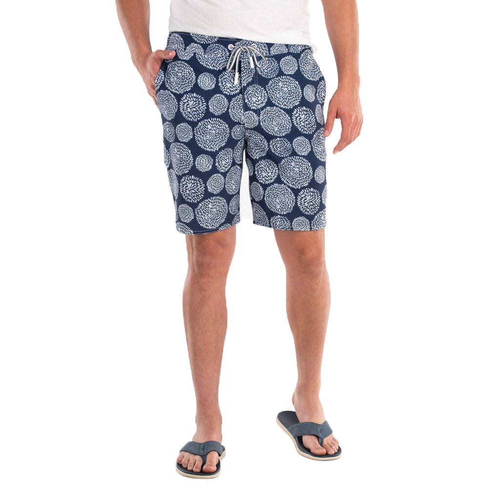 Johnnie-O Seaside Seaside Half Elastic Surf Short in Twilight