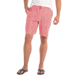 Johnnie-O Manteo Half Elastic Surf Short in Coral Reefer