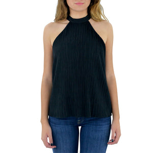 Womens Catherine Kate Halter Tie Jenna Top in Black - Brother's on the Boulevard