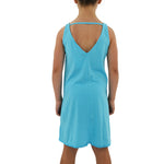 Tween Girls Weekend Vibes Girls Jersey V-Back Dress in Light Blue - Brother's on the Boulevard