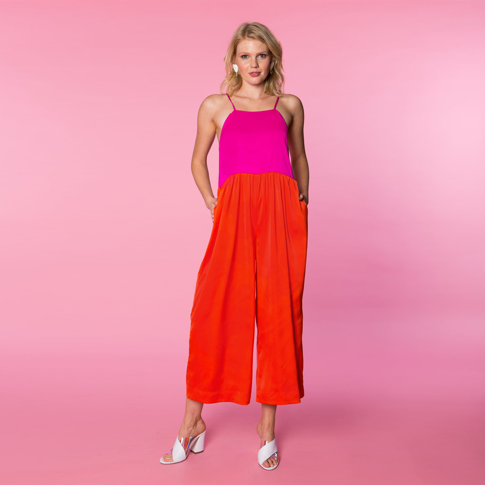 Womens Crosby by Mollie Burch Jet Jumpsuit in Pink/Red - Brother's on the Boulevard