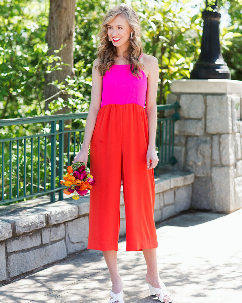 Crosby by Mollie Burch Jet Jumpsuit in Pink/Red