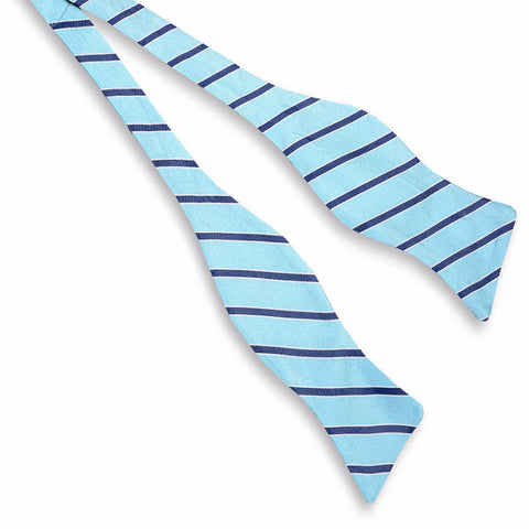 Mens High Cotton Julep Stripe Bow Tie in Ice Blue - Brother's on the Boulevard