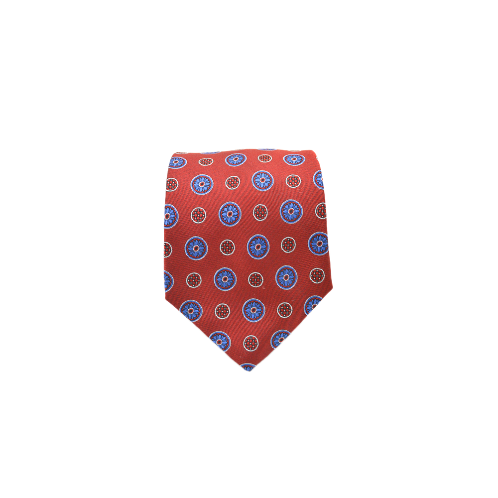 Mens Giannini Woven Circle Necktie in Red - Brother's on the Boulevard
