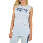 The Light Blonde Kindness is Magic Muscle Tank in Blue