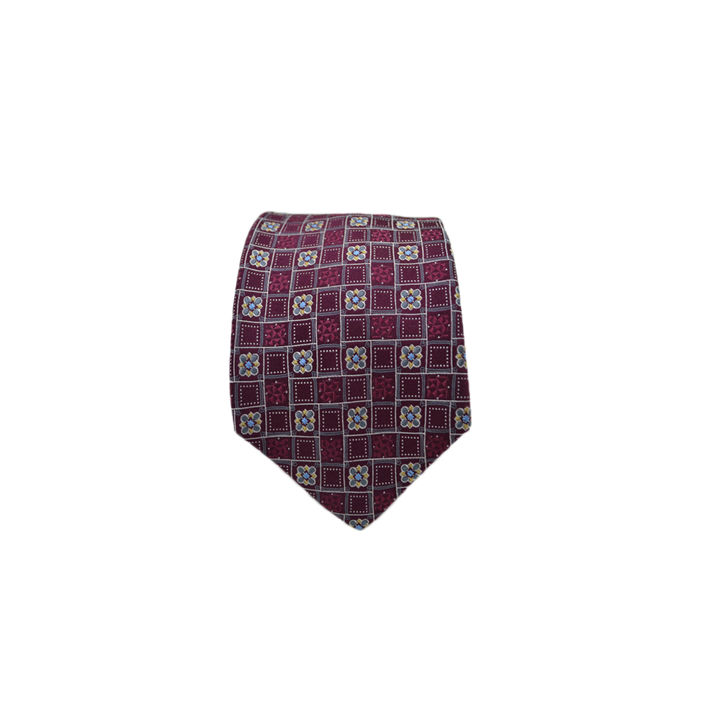 Mens Giannini Silk Necktie in Burgundy - Brother's on the Boulevard
