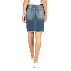 Womens Kut From The Cloth Connie Step Hem Skirt in Entice - Brother's on the Boulevard