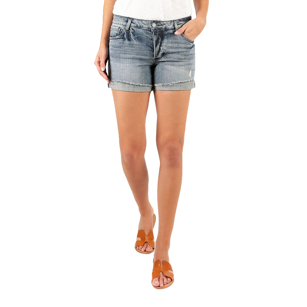Womens Kut From The Cloth Madeline Boyfriend Short in Commit - Brother's on the Boulevard