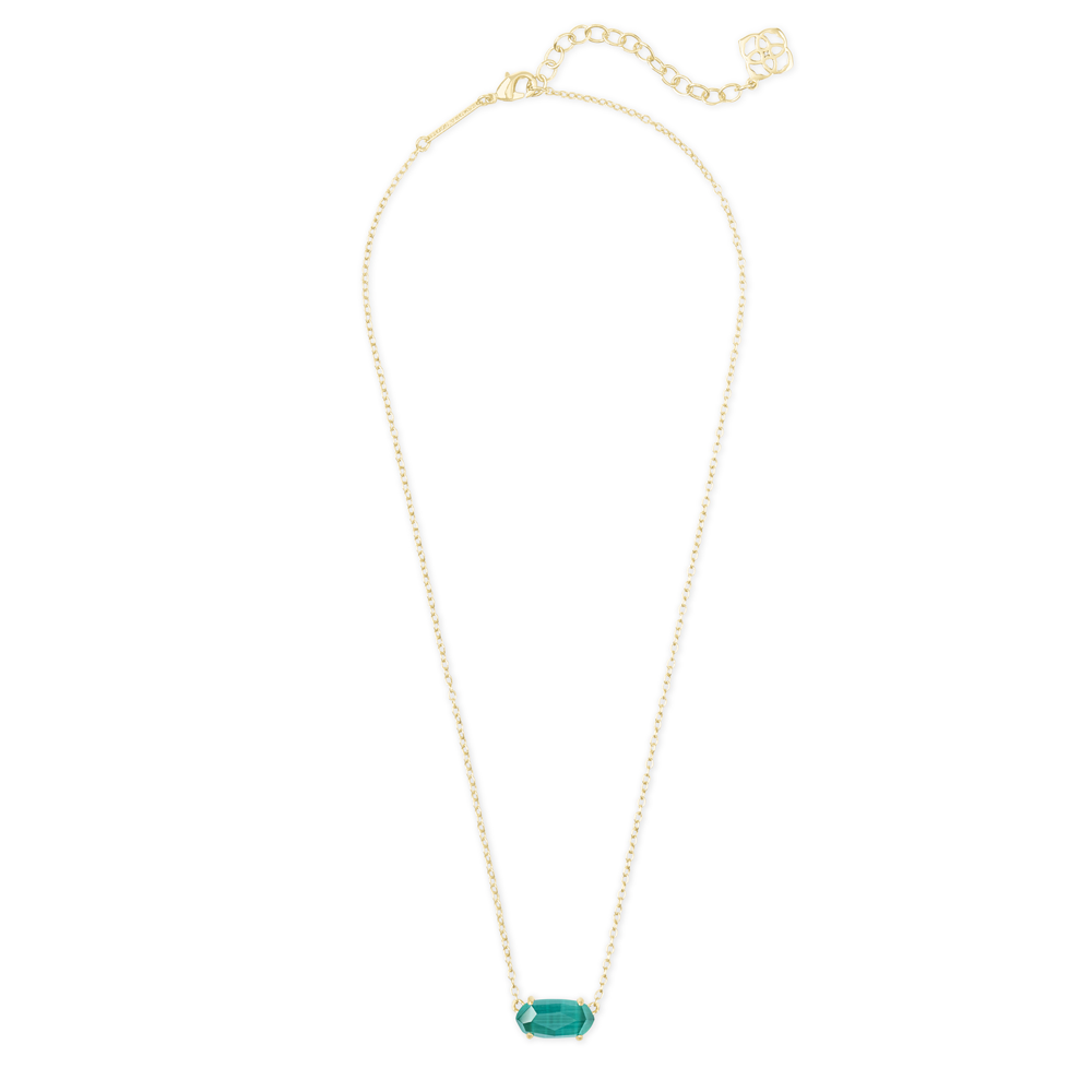 Womens Kendra Scott Ever Gold Pendant Necklace in Emerald Cat's Eye - Brother's on the Boulevard