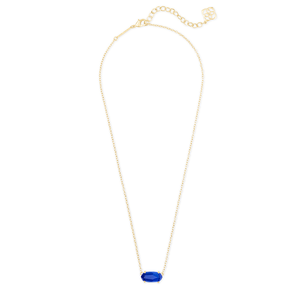 Womens Kendra Scott Ever Gold Pendant Necklace in Cobalt Cat's Eye - Brother's on the Boulevard