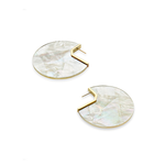 Womens Kendra Scott Kai Gold Statment Earring in Ivory Mother of Pearl - Brother's on the Boulevard