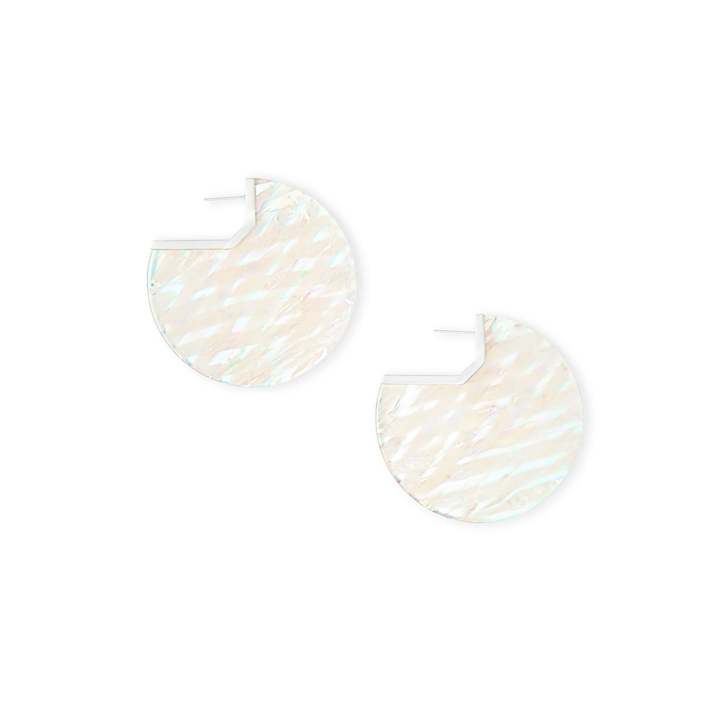 Kendra Scott Kai Gold Hoop Earring in Iridescent Acetate