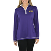 Womens Cutter & Buck Dry-Tec Half Zip Pullover in Purple/White - Brother's on the Boulevard