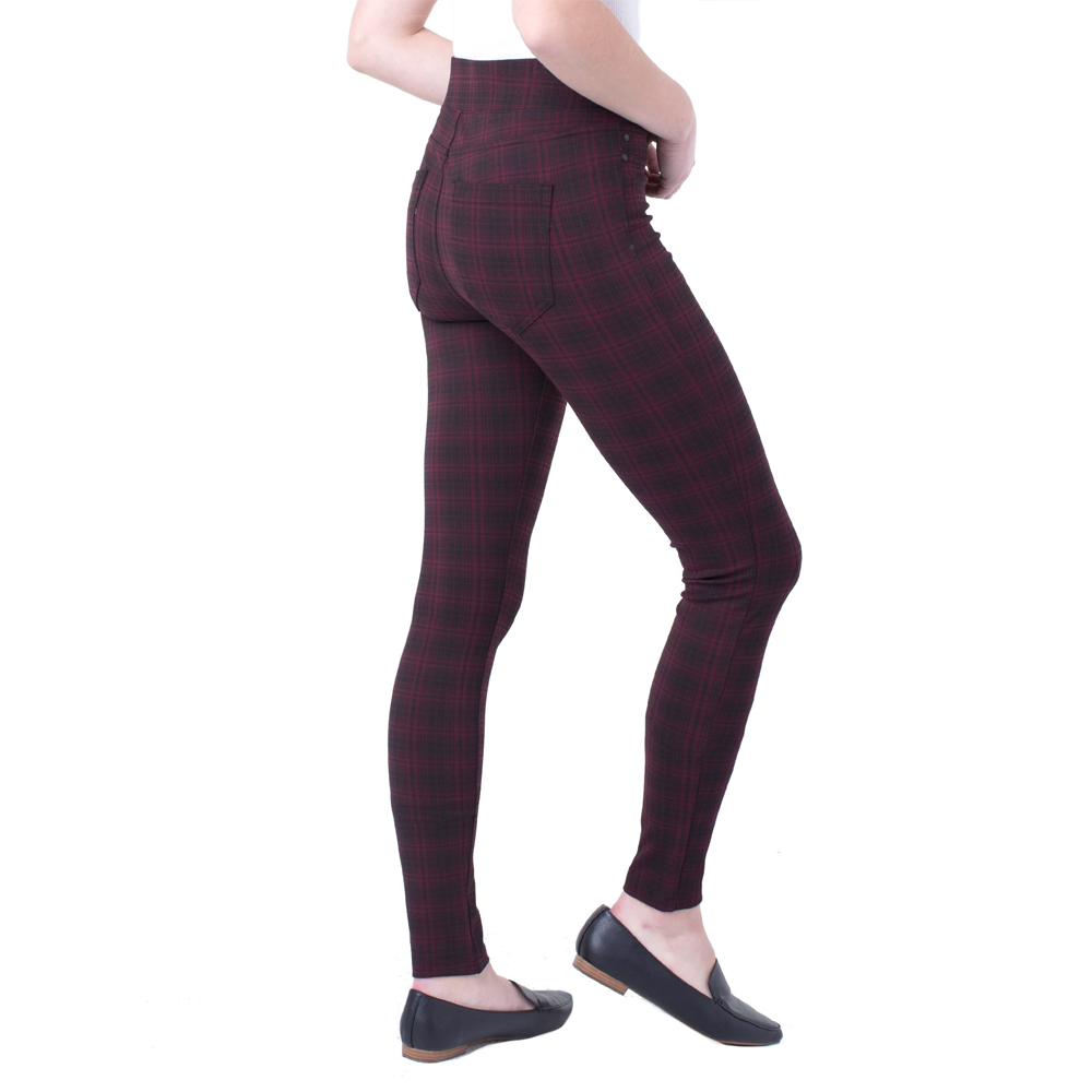 Womens Liverpool Sienna Pull On Plaid Legging in Rosette - Brother's on the Boulevard
