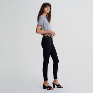 Womens AG Jeans The Farrah Skinny Ankle in Super Black - Brother's on the Boulevard