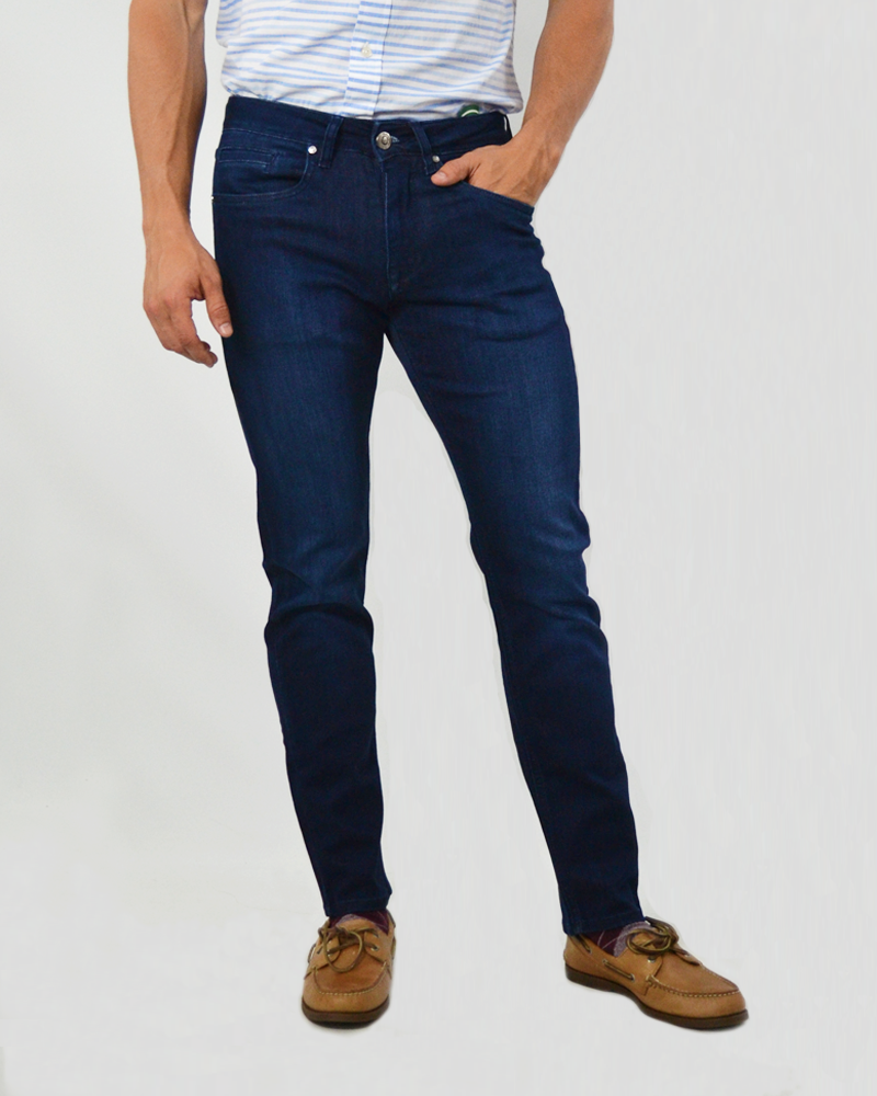 Luchiano Visconti Stretch Denim Jeans in Blue