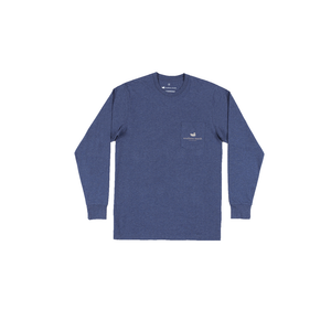 Mens Southern Marsh Vistas Bass Long Sleeve Tee in Washed Navy - Brother's on the Boulevard