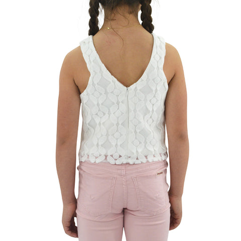 Sally Miller Lace Crop Top in Ivory