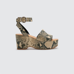Womens Dolce Vita Lesly Suede Wedge in Snake - Brother's on the Boulevard