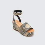 Dolce Vita Lesly Suede Wedge in Snake